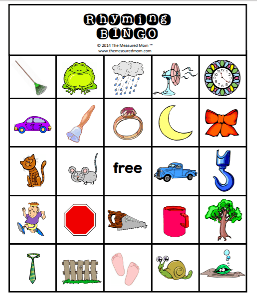 picture regarding Printable Rhyming Games known as Very simple, Totally free, Printable Math and Studying Products